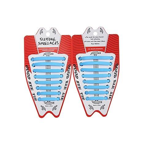 BATEE Cordones de Silicona elásticos Unisex para Zapatos ...