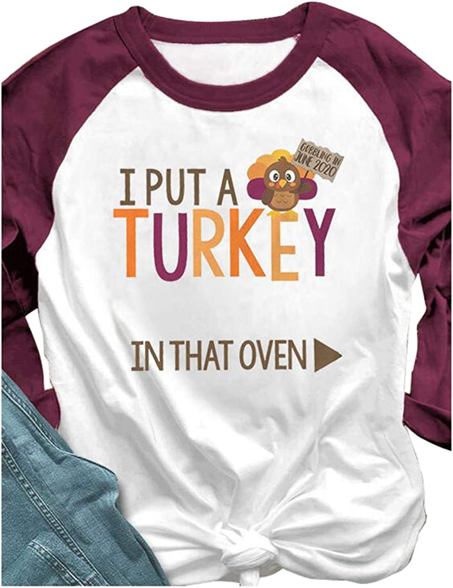 Matching Couple Shirts Turkey in That Oven His Her Raglan Baseball Tops