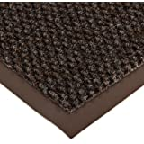 """Notrax 136 Polynib Entrance Mat, for Lobbies and Indoor Entranceways, 4' Width x 6' Length x 1/4"""" Thickness, Brown"""