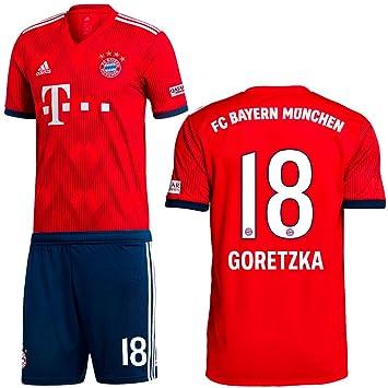 buy popular cb210 43503 adidas FC Bayern Munich Home Football Kit Set 2018 2019 ...