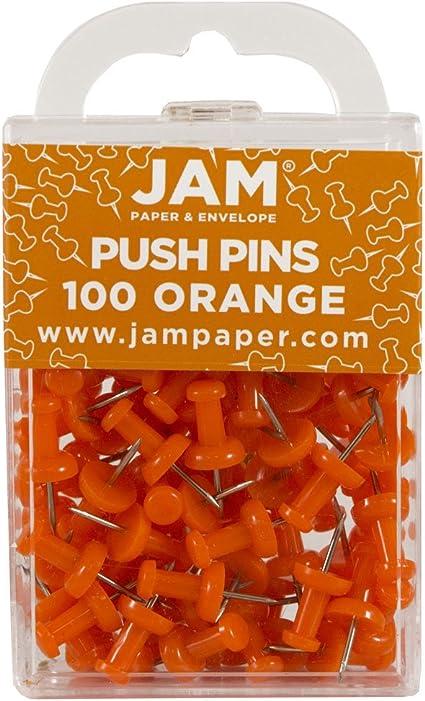 100//Confezione JAM PAPER Puntine Colorate Puntine Rosa Oro