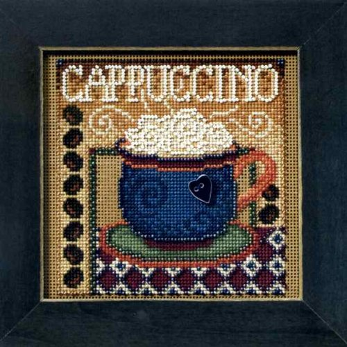 Cappuccino Beaded Counted Cross Stitch Kit MH14-8202 Mill Hi