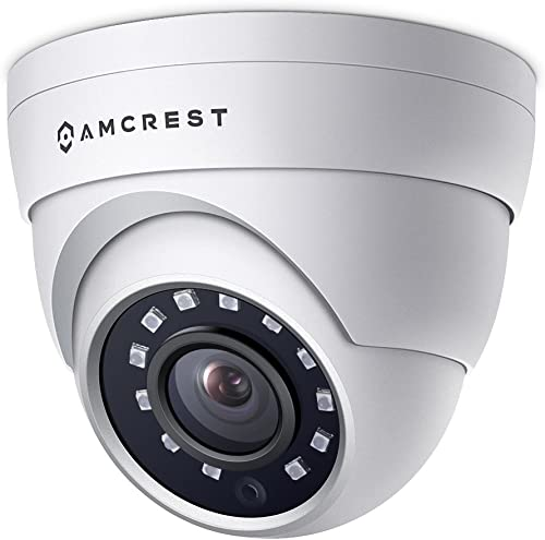 Amcrest 4MP UltraHD POE Security Camera, Outdoor IP Camera Eyeball Dome - IP67 Weatherproof, 98ft Night Vision, 118 FOV, Remote Live Viewing, 4-Megapixel 2688 TVL , IP4M-1055E White