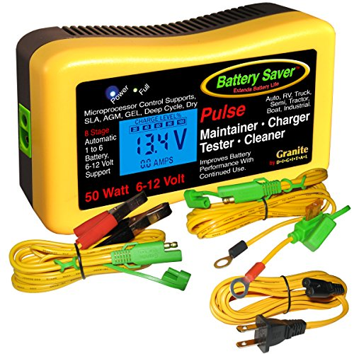 Battery Saver 2365-lcd Battery Charger, Maintainer, Pulse Cleaner and Tester-50 W (6V and 12 V) ()