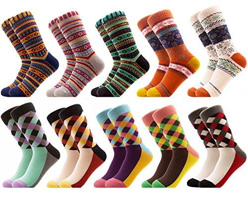 mens 100 wool dress socks - 8