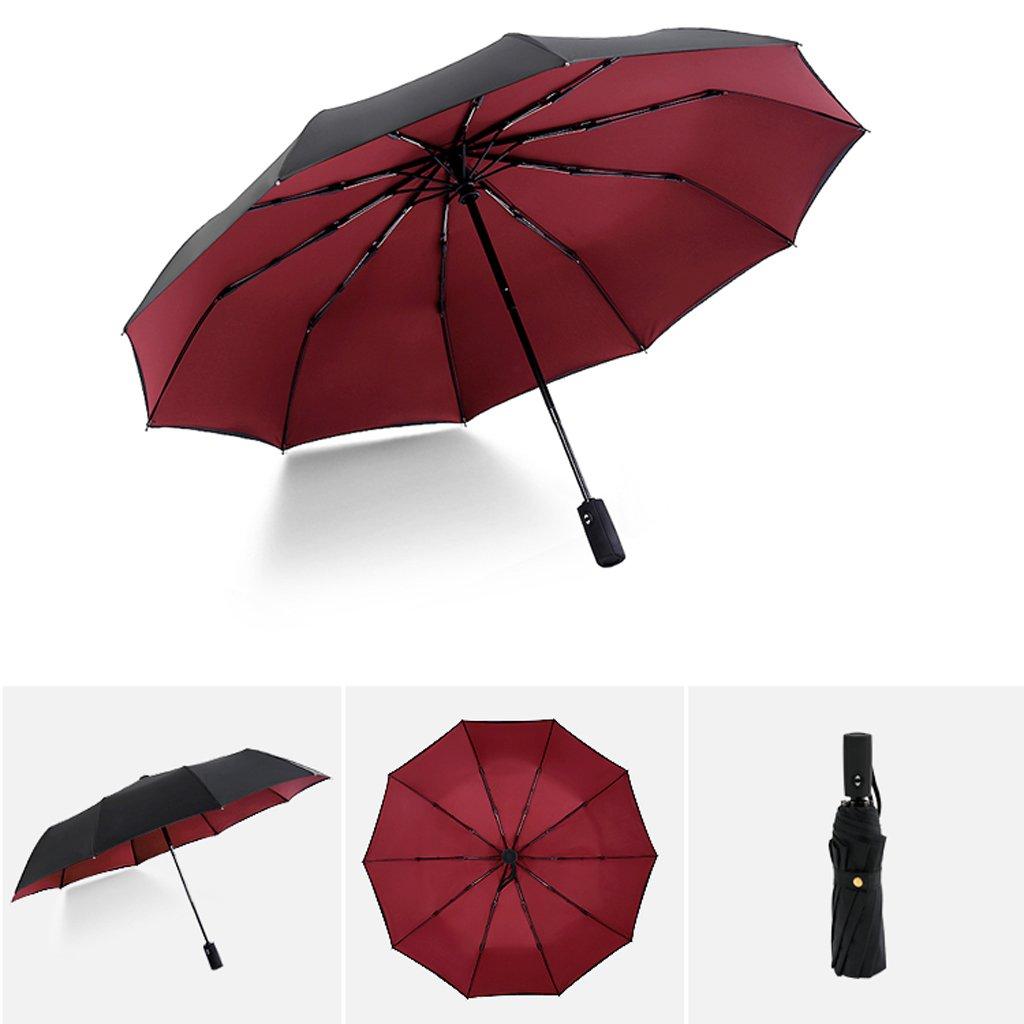 Portatili compatti 10 Balena Forti ombrelloni Antivento Colore : A HUACANG Interruttore Resistente al Vento Automatico Ombrello Affari degli Studenti UV
