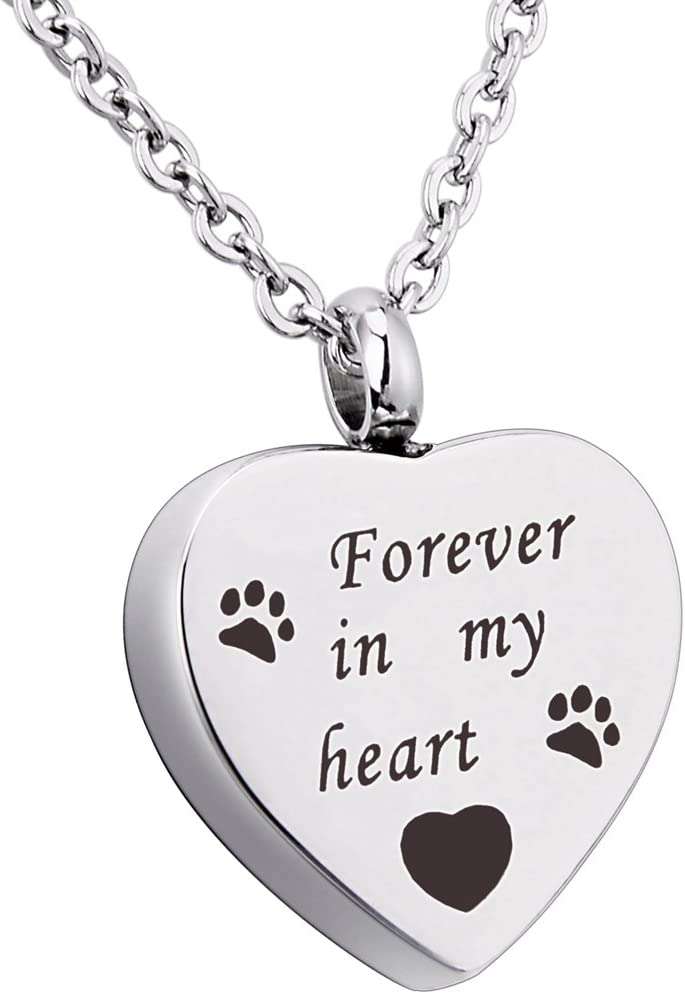 Pet Dog Cat Paw Necklace Pendant Jewellery Always In My Heart Paw Jewellery HY