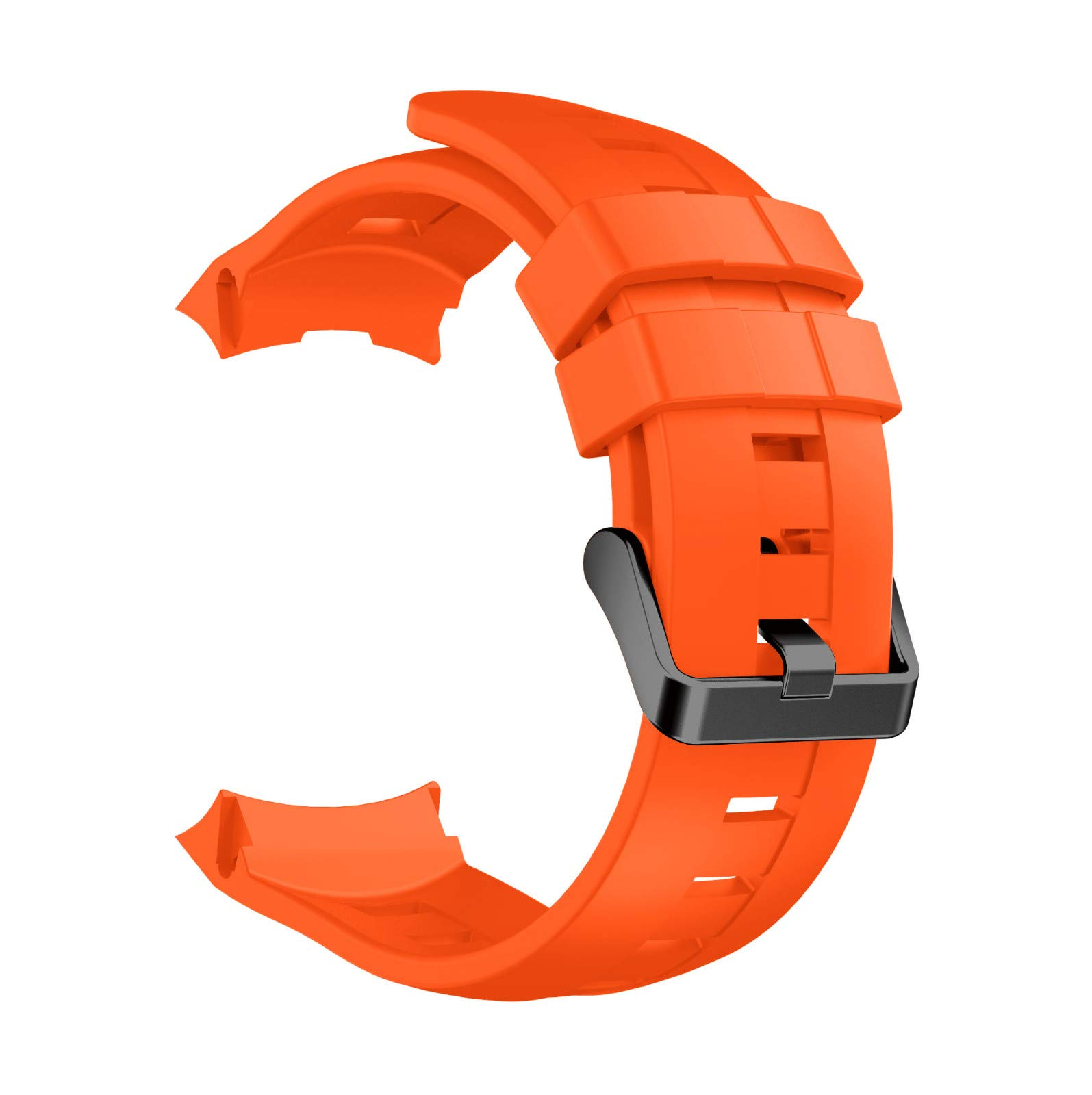 Sonmer Replacement Soft Silicone WristBand Strap For Suunto Ambit 3 Vertical (Orange)