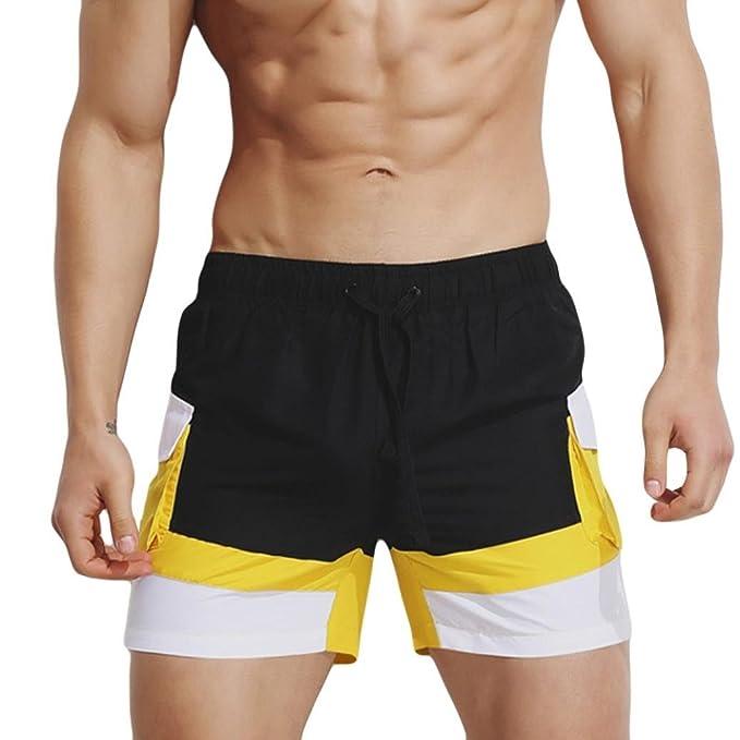Männer Schnell Trockend Badeshorts, ZARU Badehose Sport Training Kurze  Hosen Bademode Shorts Slim Badeanzug Bermuda-Shorts Surfen Boardshorts:  Amazon.de: ...