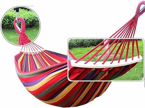 MFHP21 Colchoneta para Dormir Jardín al Aire Libre para Interiores Hamaca para niños Adultos Hamaca Antideslizante Doble Lona Gruesa (200 * 150CM): Amazon.es: Deportes y aire libre