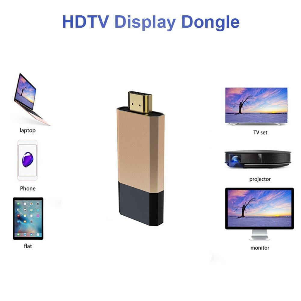 Smileyyi WeCast TV Dongle Android iOS Dual Core for for Netflix Youtube by Screen Mirroring Mirascreen C8 Miracast HDTV Display Dongle Support Projector HDMI 无