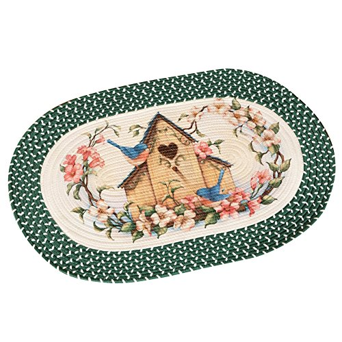 Birdhouse Bluebird Braided Rug
