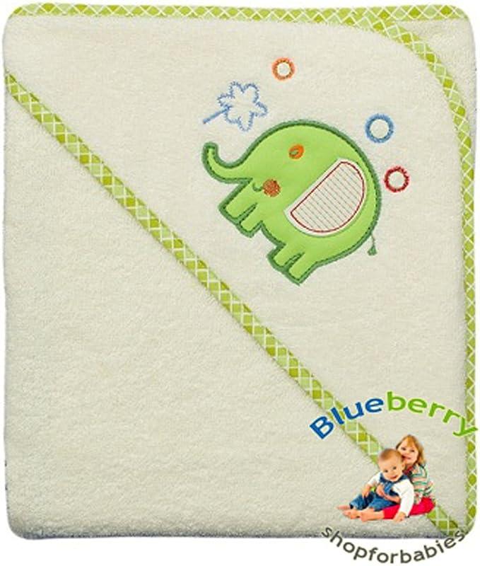 rose Blueberryshop brod/ée Grande serviette de bain//plage//piscine /à capuche pour b/éb/é//enfant en coton