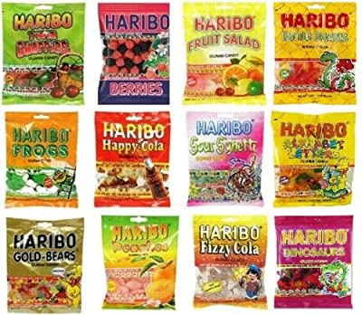 Haribo Gummy Gummies Candy Assorted Variety (Pack of 12) from Haribo