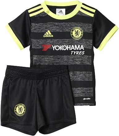 adidas Chelsea FC 2015/16 A Baby Conjunto, Negro/Amarillo/Rojo, 3 ...