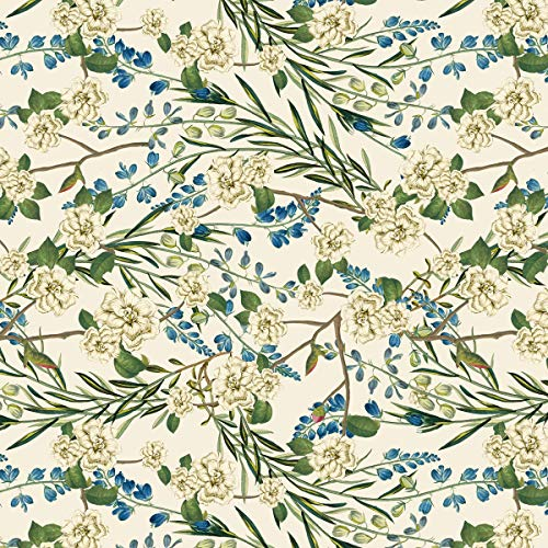 Arbor Flowers Cotton Fabric by The Yard