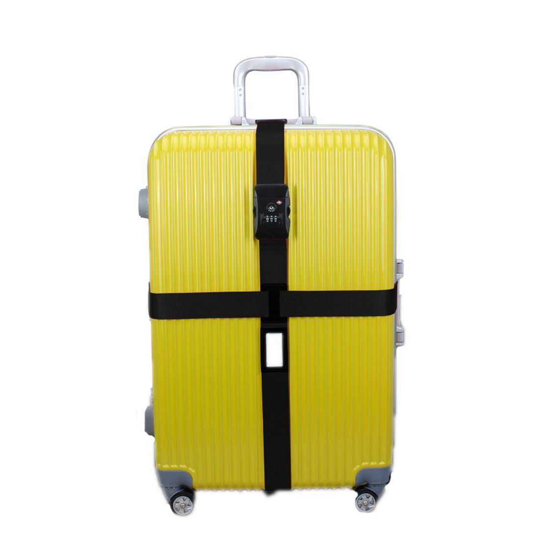 donfohy Travel longer tied me with luggage belt tied cross silicone packing tape tied with reinforcement travel