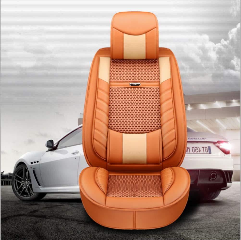 Front 2pcs Red ANKIV 2pcs Universal Fit Waterproof Pu Leather Car Seat Cushion Cover for Sedan or SUV