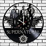 Vinyl record wall clock Supernatural, Supernatural wall poster, Best design gift for supernaturals fans