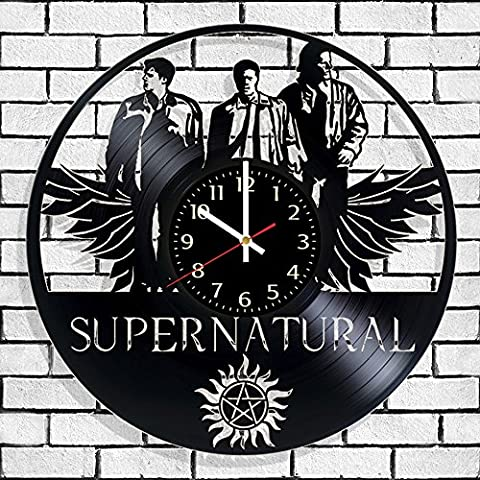 Vinyl record wall clock Supernatural, Supernatural wall poster, Best design gift for supernaturals (Supernatural Battery)