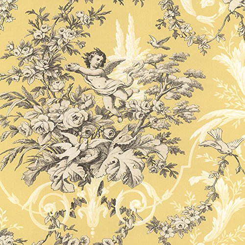 Norwall CH22539 Fabric Toile Wallpaper
