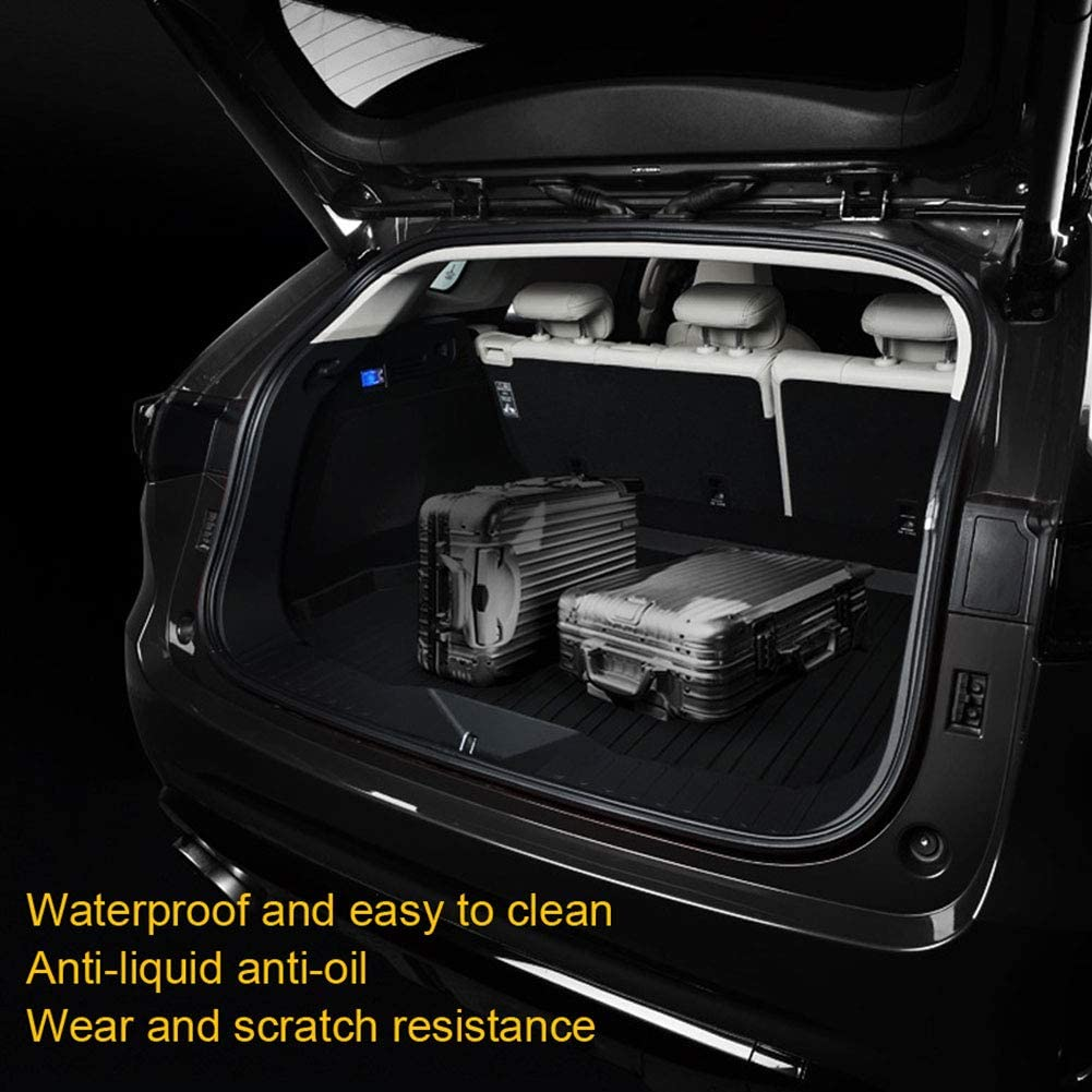 Rubber Non-Slip Waterproof Back Seat Cover Boot Liner Tray Mat Tailored Cargo Storage Protector Pad Auto Rear Trunk Accessories BNHHB Car Boot Mats for AU DI Q3 2019 2020 Up