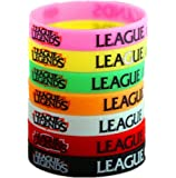 League of Legends Silicone Wristbands Colorful Rubber Unisex Bracelets Cosplay Fashion Accessories (7 Colors)