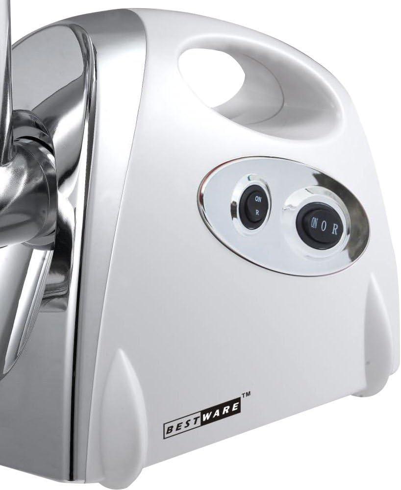 3 Trennscheiben OUKANING Elektrischer Fleischwolf 2800 Watt//Zubeh/ör f/ür W/ürstchen und Dielen//Edelstahl