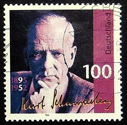 Kurt Schumacher 1895-1952, Germany -Handmade Framed Postage Stamp Art 21380AM 1895 Postage