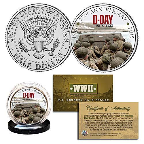 World War II - D-DAY Normandy 75th Anniversary 1944-2019 JFK Half Dollar Coin