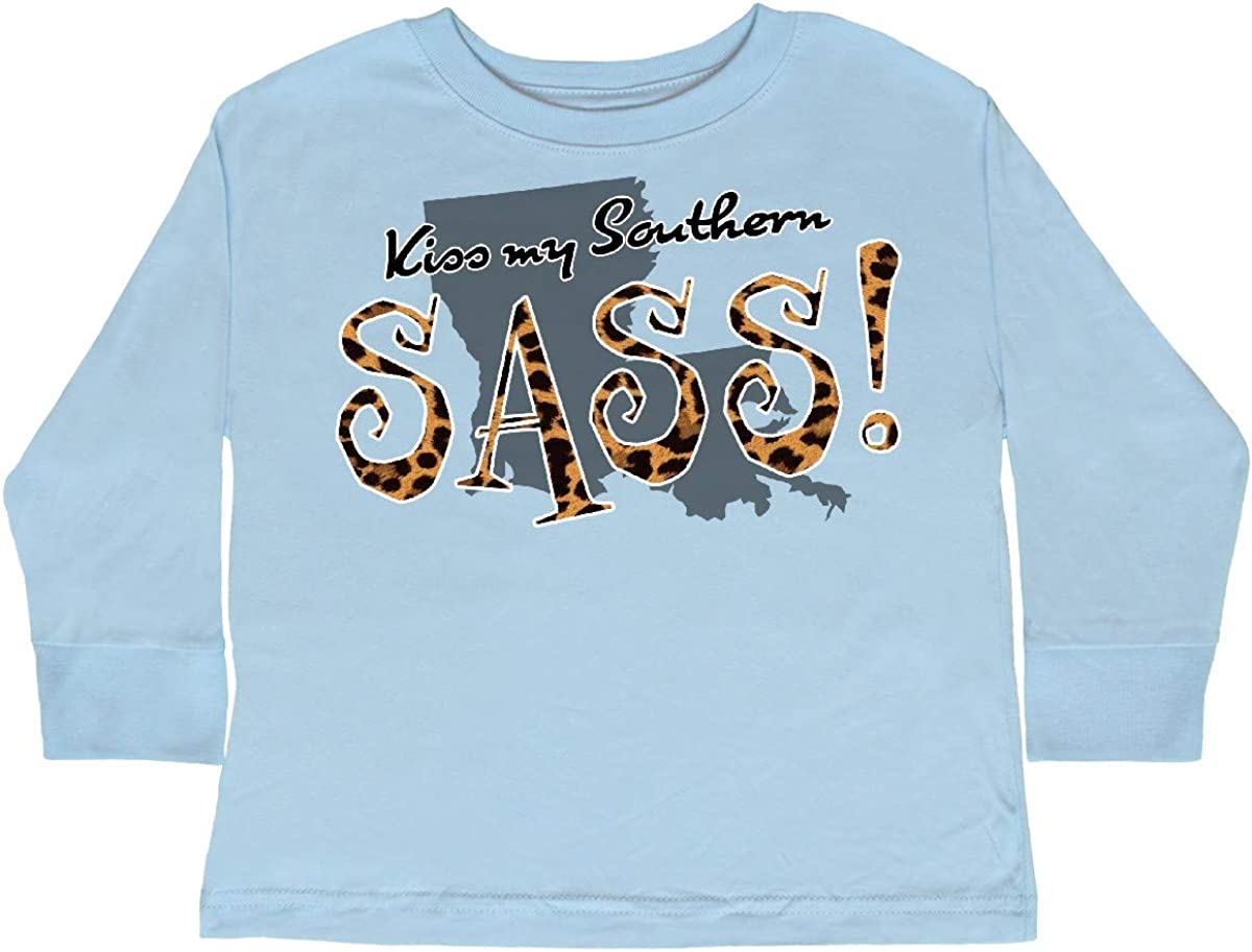 inktastic Louisiana Kiss My Southern Sass in Toddler Long Sleeve T-Shirt