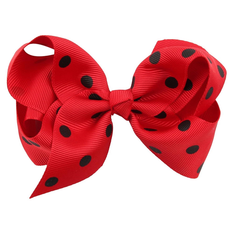 Zhhlinyuan Girls Sweet Style Dots Big Bows Baby Ribbon Hair Clip Boutique  HC022 Envio gratis 23daee3e28cb