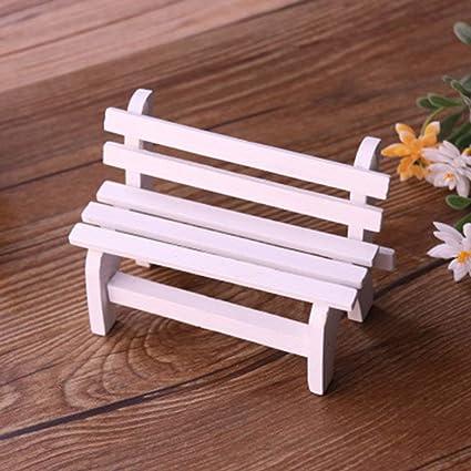 Doyime Miniatur Gartenbank Miniatur Garten Patio Furniture
