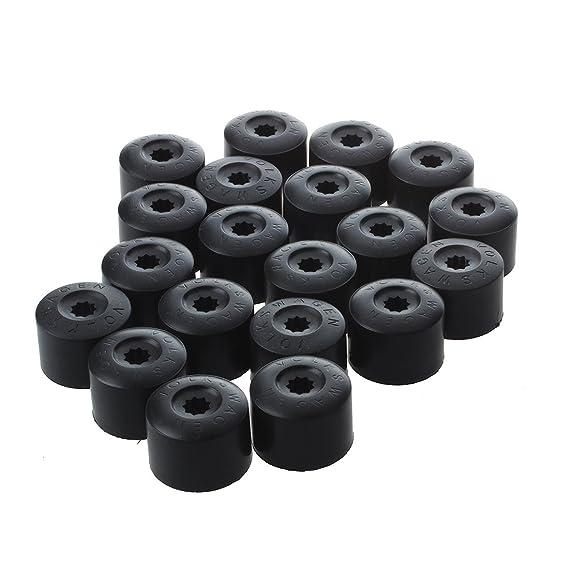 Perno de tapa de tuercas de ruedas - TOOGOO(R)20 Tuerca de rueda perno de tapa de cubierta de 17 mm para Volkswagen Golf MK4 Passat Audi Escarabajo: ...