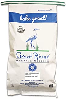 product image for Great River Organic Milling, Bread Flour Blend, All Purpose Whole Wheat, Stone Ground, Organic, 25-Pounds (Pack of 1)