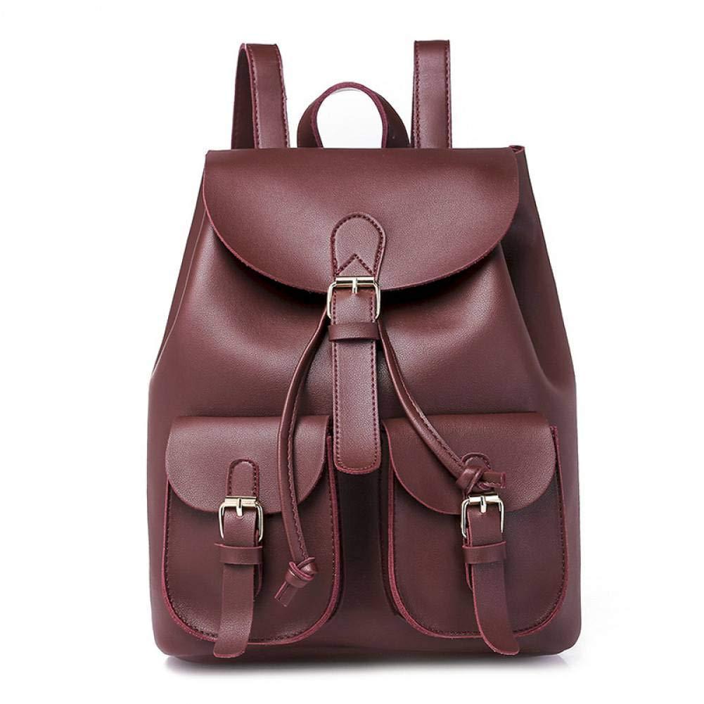 SJGBB Backpack Nueva Mochila de Cuero para Mujer Bolsas ...