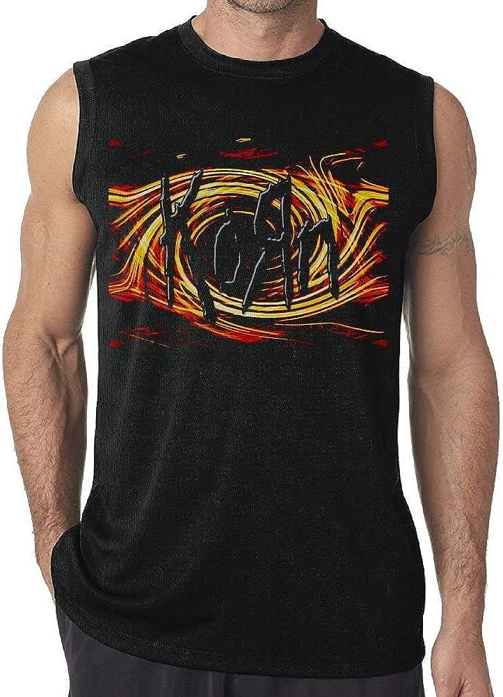 Camiseta sin Mangas Divertida del Chaleco del Hombre de Korn Camisetas sin Mangas de los Muchachos: Amazon.es: Ropa y accesorios
