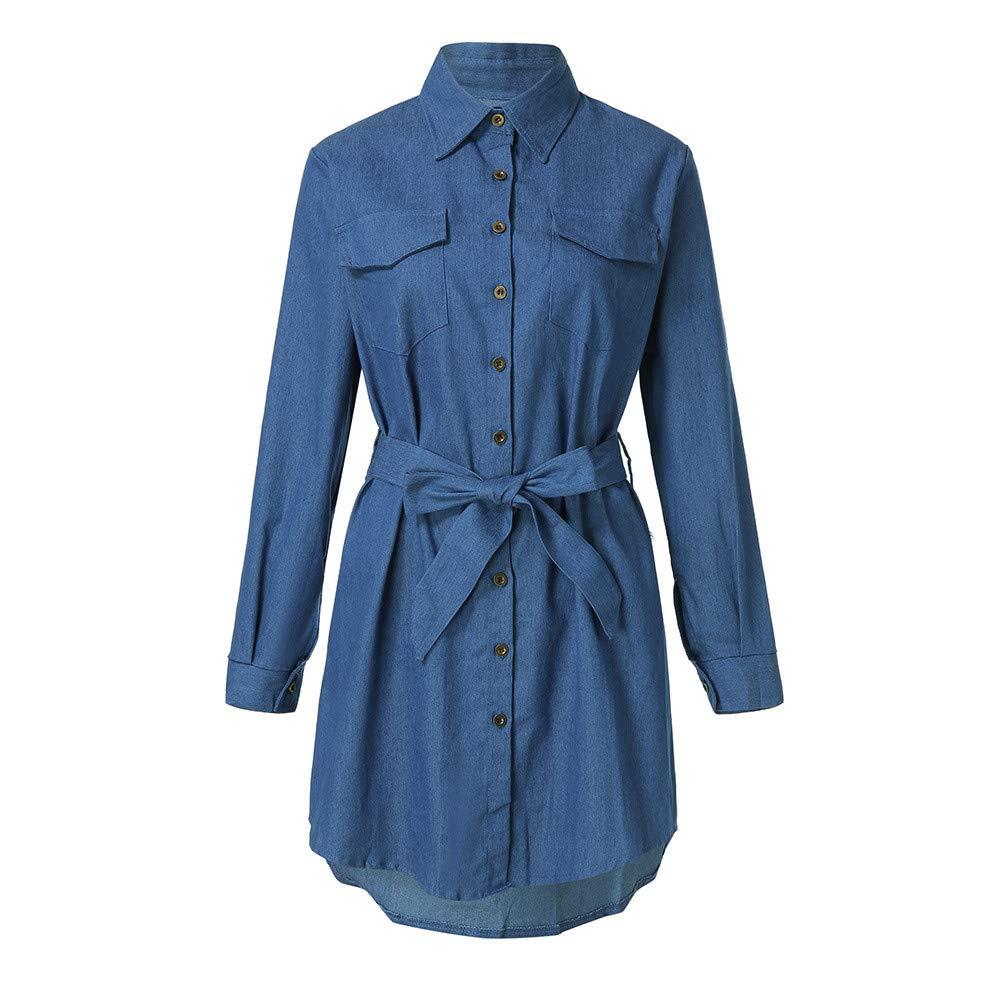 d6ee8d817ff Ladies Long Denim Dress