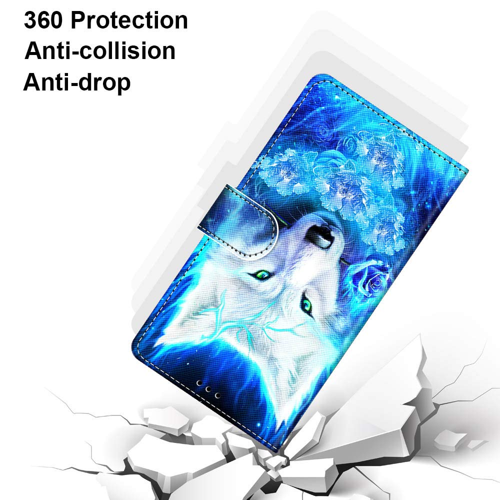 Miagon PU Cuir Coque pour Huawei Honor 9 Lite,Color/é Motif Portefeuille /Étui Housse Cover avec Stand Support Porte-Cartes de Cr/édit,Lion Roi
