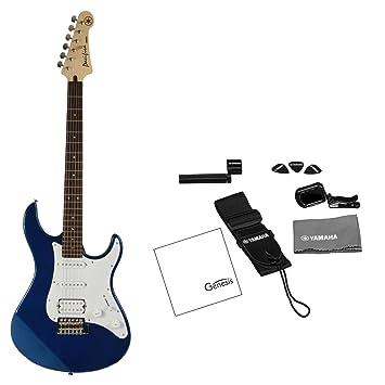 Yamaha Pacifica serie pac012 dBm guitarra eléctrica de profundidad azul metálico (afinador, correa,