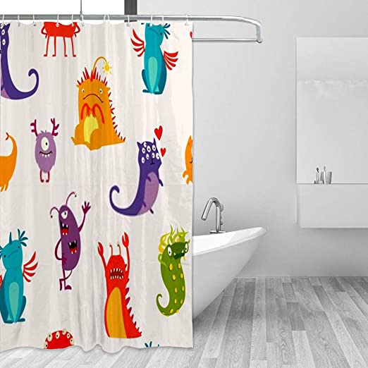 Amazon Com Zhimi Shower Curtains Set Bathtub Waterproof Polyester Fabric Bathroom Curtains Set With Hooks Masters Kitchen Dining