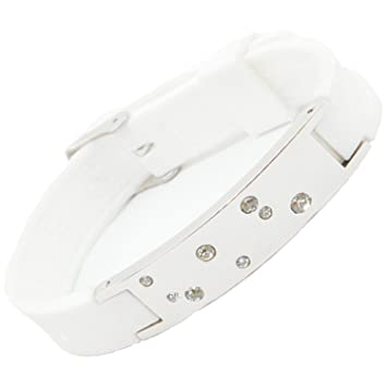 Amazon Com Ion Power Silicone Magnetic Bracelet With Swarovski