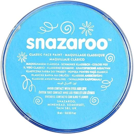 Snazaroo - Pintura facial y corporal, 18 ml, color turquesa: Amazon.es: Juguetes y juegos