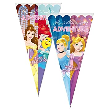 VERBETENA 10 bolsas cono porta caramelos Princesas 40 Cm ...