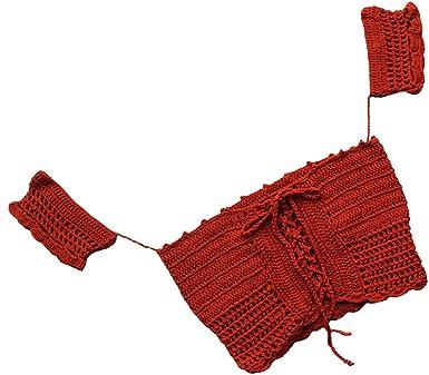 MagiDeal Bañador de Mujer Playa Ropa Top de Cultivos Crochet Cordón Boho Estilo De Moda