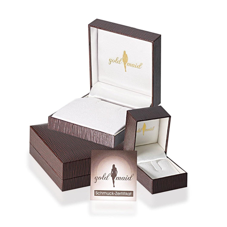 Weißgold barren  Goldmaid Damen-Herzanhänger aus 585 Weißgold mit 30 Diamanten 0.16 ...