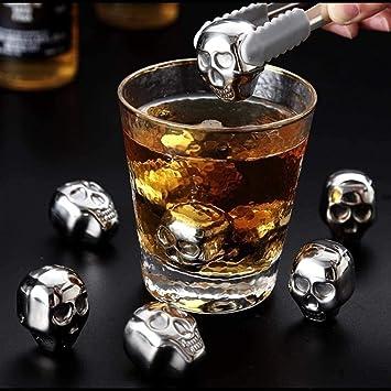 Compra AINIYF Forma de la Piedra Whisky 6PCS cráneo de Acero ...