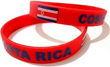 AccessCube Unisex País Bandera Nacional de Silicona Pulsera de Goma de Moda Pulsera Brazalete (Costa Rica): Amazon.es: Deportes y aire libre