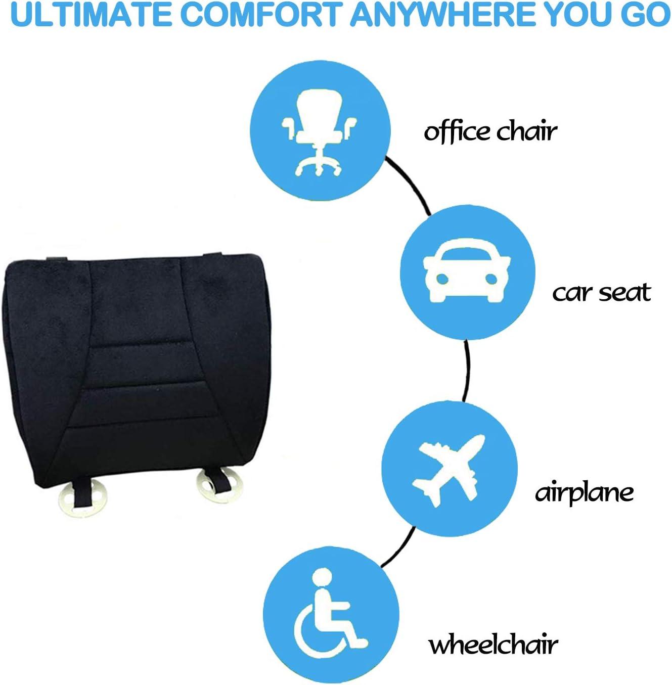 Almohadilla del asiento trasero para autom/óvil Almohada lumbar almohada ortop/édica de soporte lumbar para la parte inferior de la espalda oficina y silla de ruedas coxis alivio de la cadera