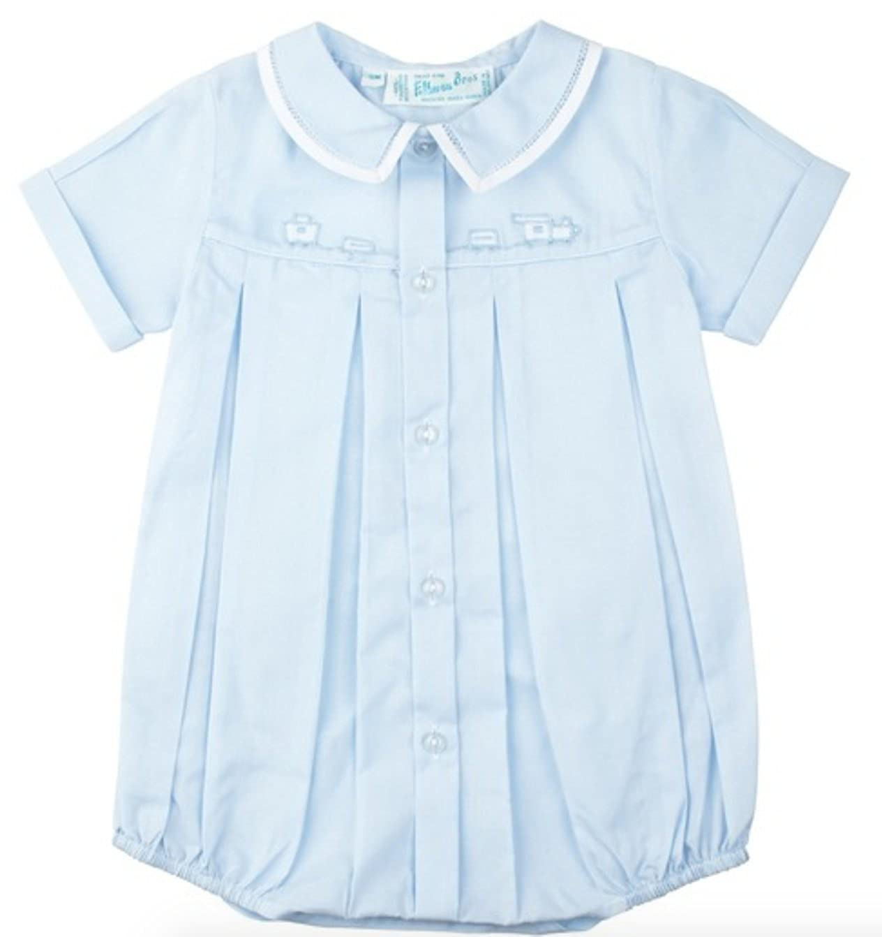 c0b94956f Amazon.com: Feltman Brothers Baby Boys Blue Train Bubble Outfit (9M): Infant  And Toddler Rompers: Clothing
